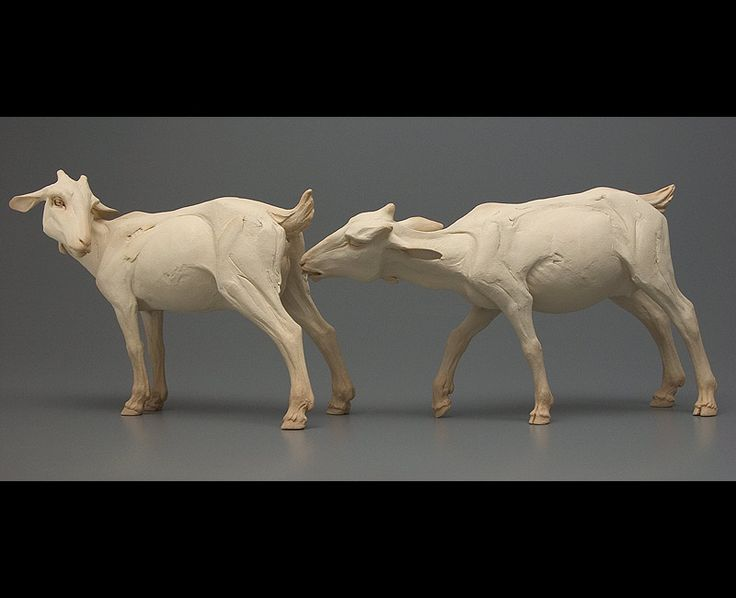 Do I dare to eat a peach? - Beth Cavener Stichter - The sculptures I create focus on human psychology, stripped of context and rationalization, and articulated through animal and human forms.