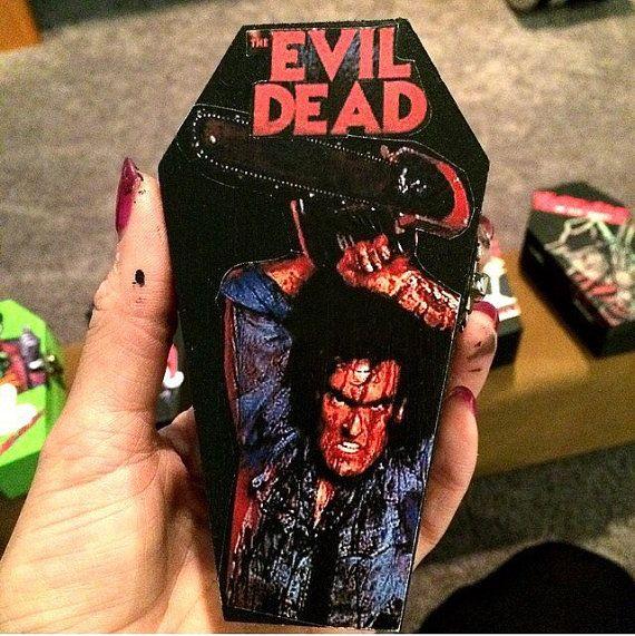 Wood coffin box Evil Dead Ash Williams by KillerKeepsakes on Etsy