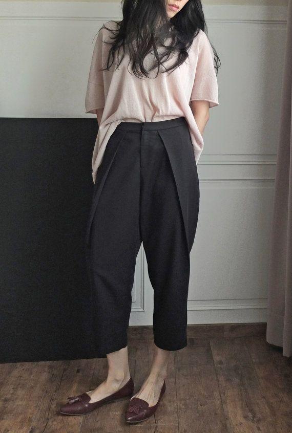 Garconne tomboy style low-crotch oversize culotte by Metaformose