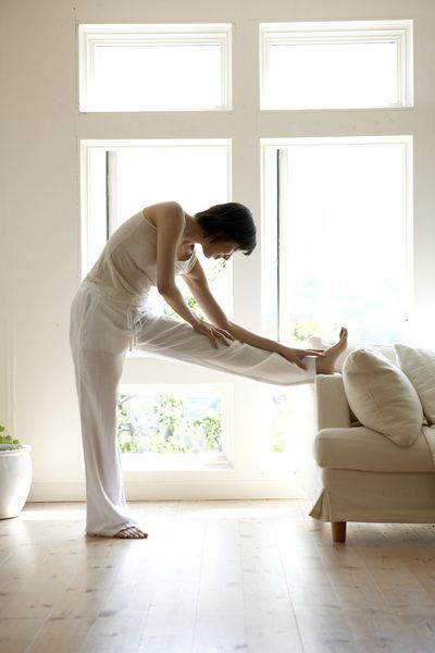 Stretching to relieve abdominal adhesions can reduce scar tissue.