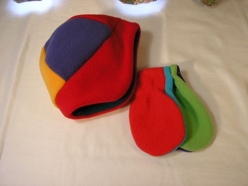 Baby Earflaps Hat Mitts in 6 colours from Jacaranda £5.99