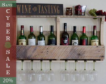 Wine Rack Christmas Gift Unique Wine Rack di JNMRusticDesigns