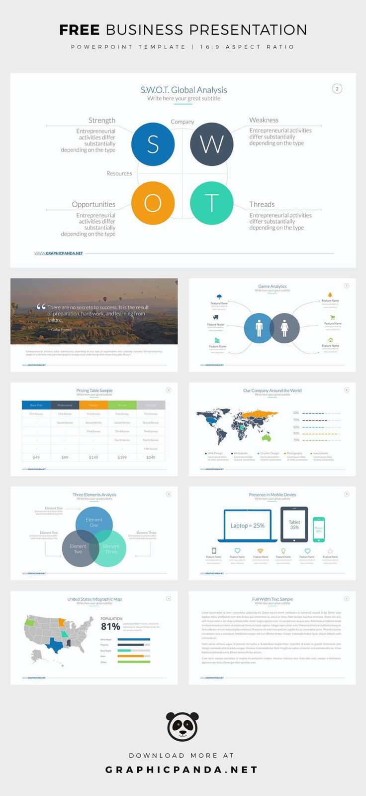 491 best templates video images on pinterest free presentation free business powerpoint template toneelgroepblik Choice Image