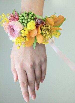 リストレット/ミモザ/花どうらく/ブーケ/http://www.hanadouraku.com/bouquet/wedding/