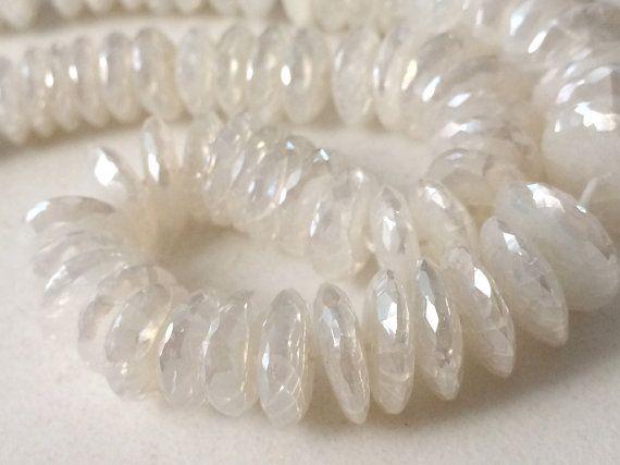 White Chalcedony Beads White Chalcedony German by gemsforjewels