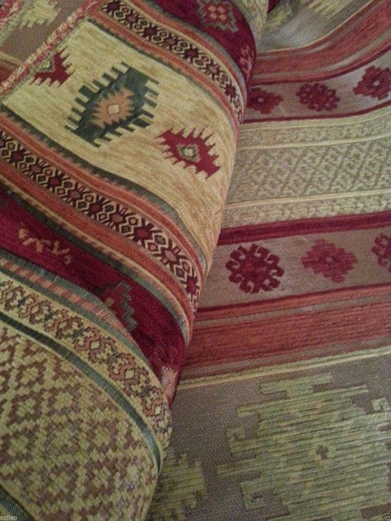 SALE!!!by the Meters,Yards,Chenille,Jacquard, Ethnic,Turkish,Ottoman Style Chenille Upholstery Fabric, Velvet Fabric,Kilim Fabric,Mustard