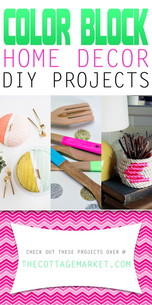 Looking to add a POP of color into your home decor? Well then check out our newest collection of Color Block Home Decor DIY Projects! Express yourself!!!!
