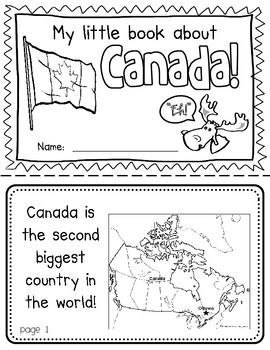 Canada Booklet (A Country Study)-- Use during social studies units about countries around the world! TeachersPayTeachers