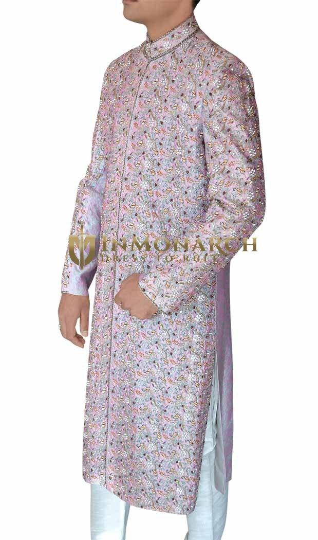 Ethnic Maharaja Lavender Sherwani #Wedding #Sherwani #Inmonarch #Ethnic Wear #Inmonarch Wedding Wear #Indian Wedding Wear #Wedding Collection #Inmonarch Sherwani