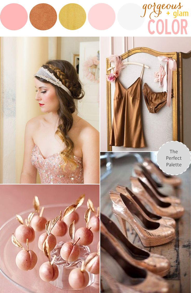 Color Story | Copper + Pink http://www.theperfectpalette.com/2013/10/color-story-copper-pink.html