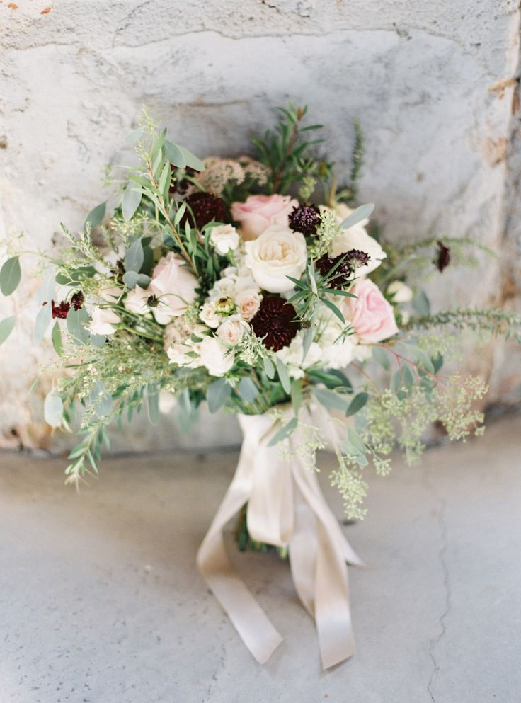 Dahlia, rose and scabiosa wedding bouquet: Photography: Jake + Heather - jakeandheatherphoto.com   Read More on SMP: http://www.stylemepretty.com/2016/11/08//