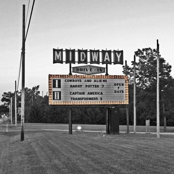 Midway DriveIn Ravenna/Kent, Ohio. Still open every