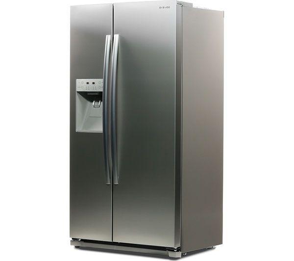 DAEWOO DRQ29NPES American-Style Fridge Freezer - Silver