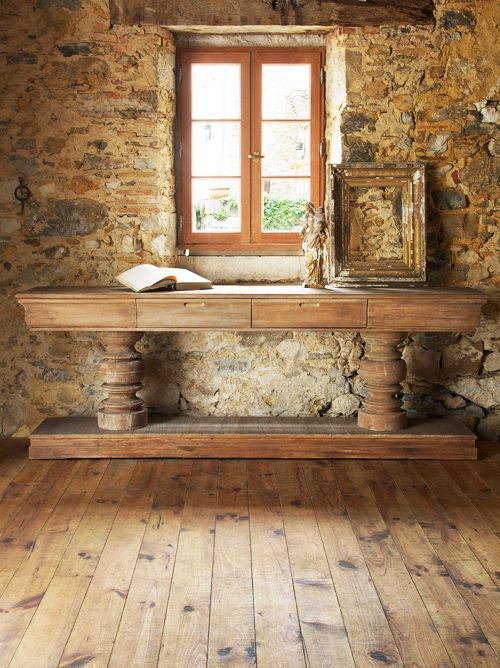 Pedestal Console Table French Country Rustic Elegant Inspiration Pinterest And