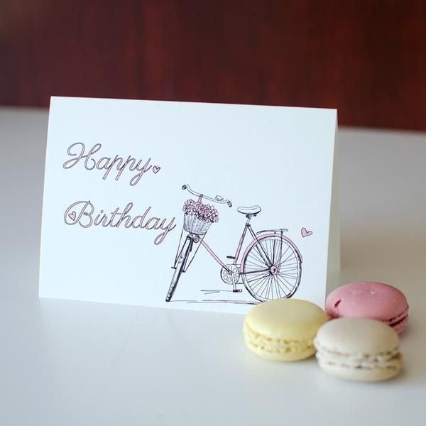 Bicycle - birthday card
