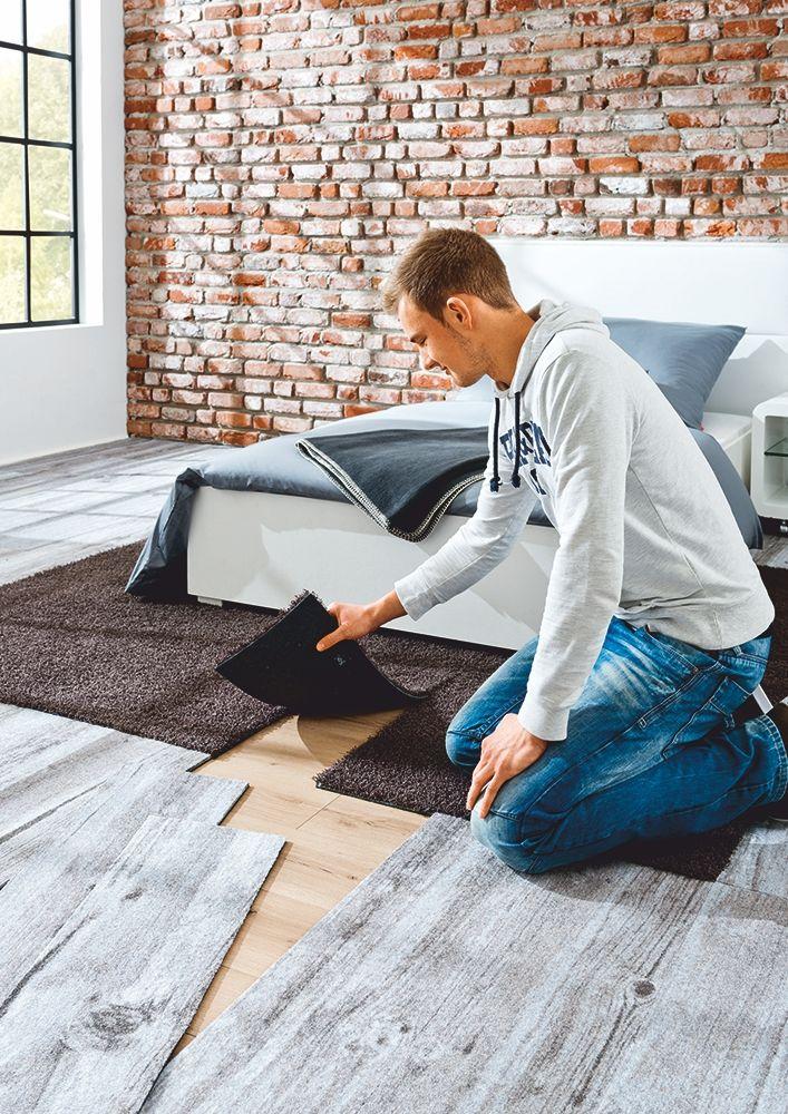 Teppichboden in Form von Dielen Ideal zum selbst verlegen - teppichboden für schlafzimmer