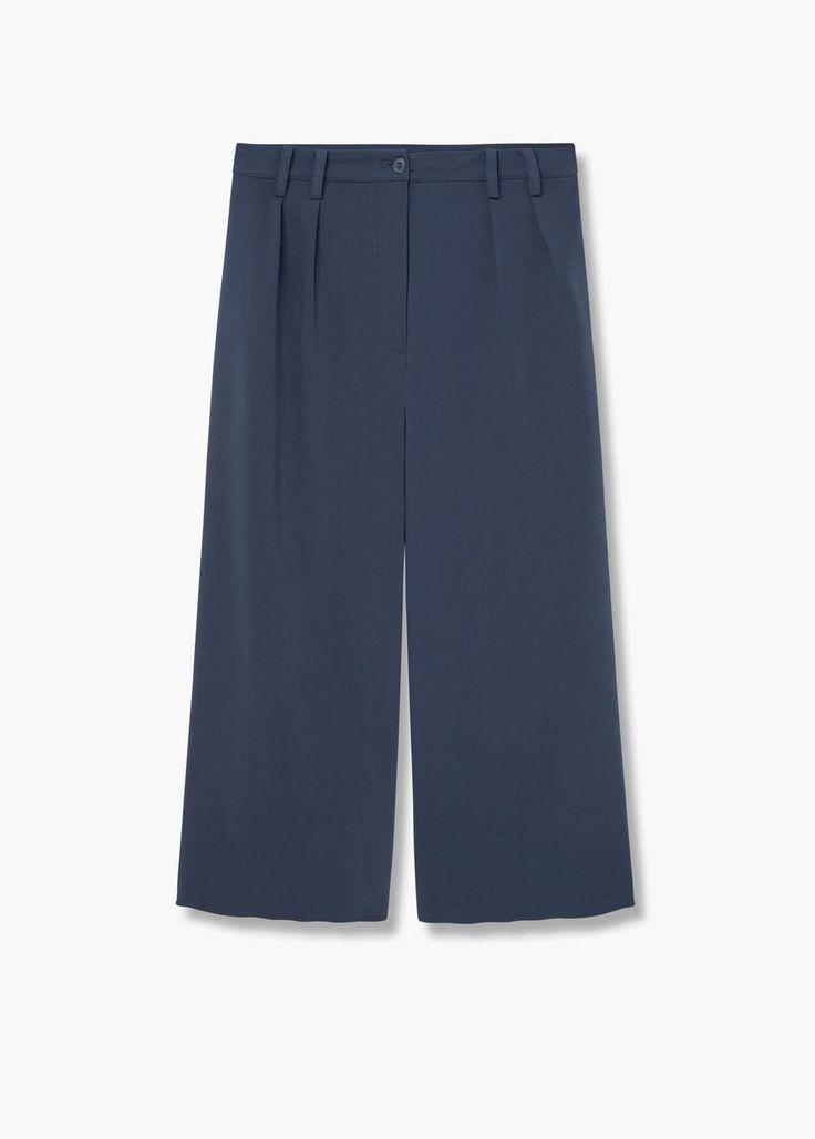 Kısa paçalı palazzo pantolon | MANGO