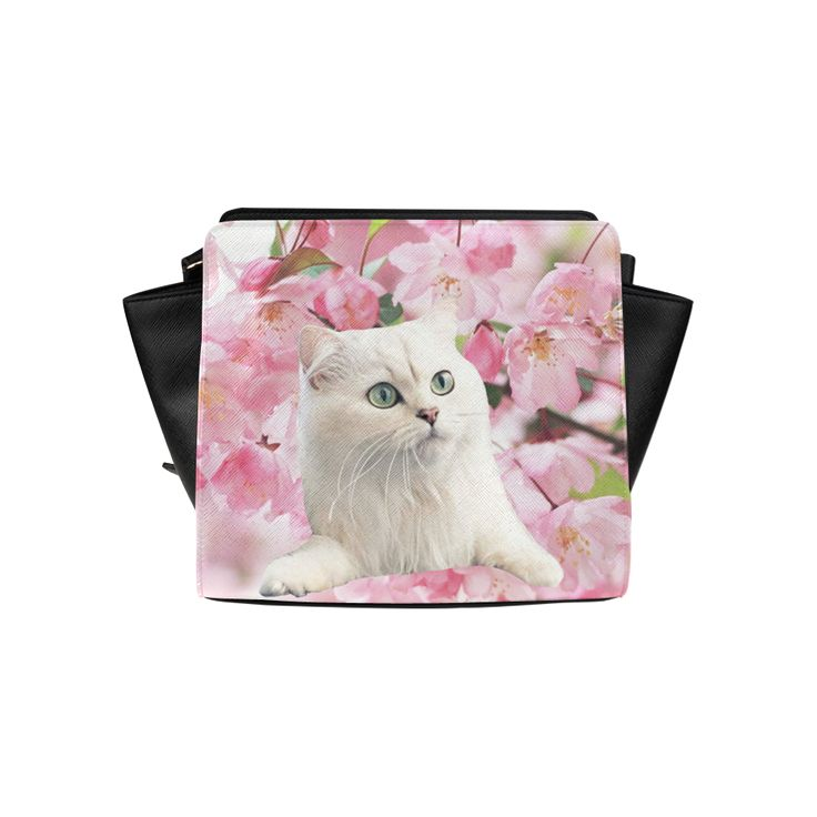 Cat and Flowers Satchel Bag. FREE Shipping. #artsadd #bags #cats