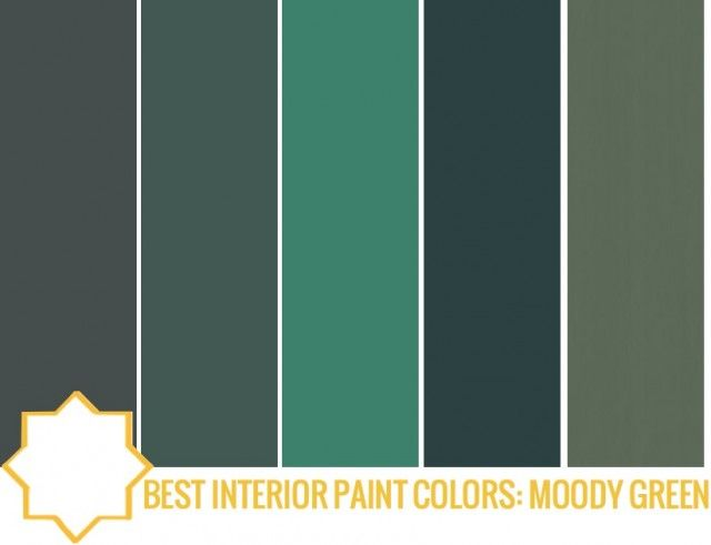 BEST INTERIOR PAINT COLORS  MOODY GREENS26 best Color Palette Mid century images on Pinterest   Colors  . Green Paint Color Palette. Home Design Ideas