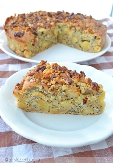 Almás-diós-mákos sütemény | Ottis főz
