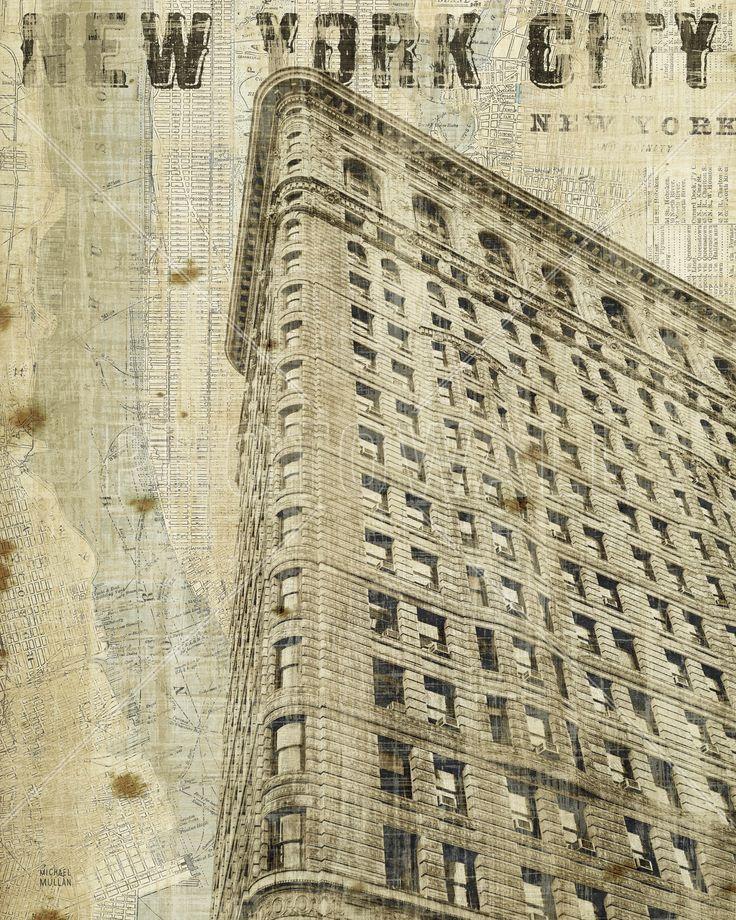 Vintage New York Flat Iron - Mural de pared y papel tapiz fotográfico - Photowall