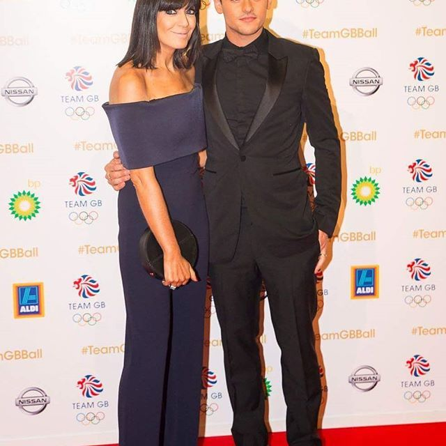 Claudia Winkleman and Tom Daley on the red carpet before hosting the Team GB Ball.  #TomDaley #ClaudiaWinkleman #TeamGB #TeamGBBall