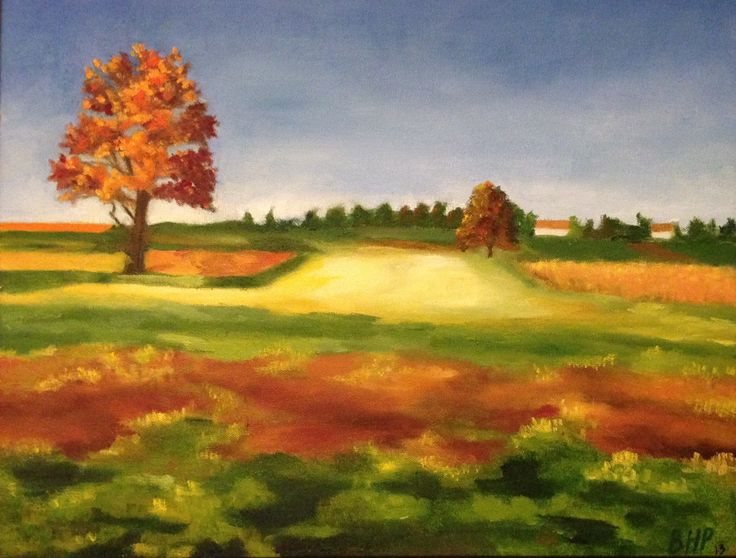 """""""Richness of the After-Harvest"""" Oil on Canvas - 20"""" x 16"""""""