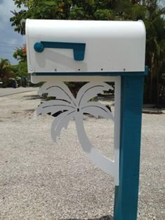 Mailbox Bracket Palm Tree Coastal Tropical Custom Mailbox