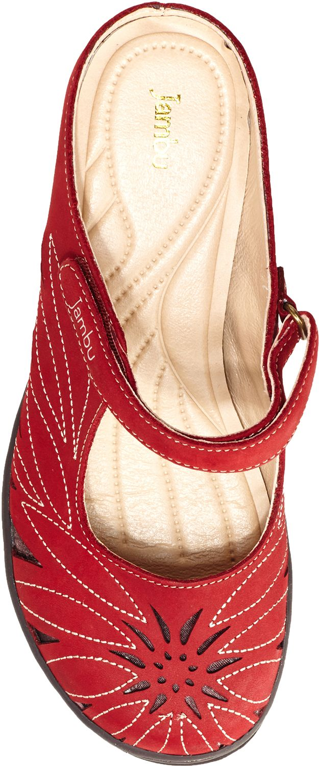 Jambu Canyon dress mary jane, with memory foam footbed, Women's, Adventure Designs, PlanetShoes.com (Red)