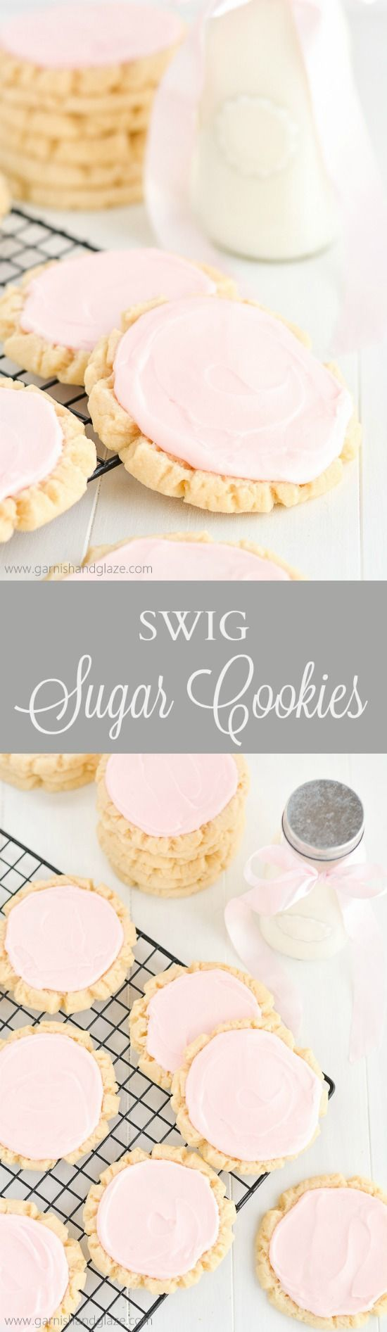 Swig Sugar Cookies will become your new favorite, go-to, easy sugar cookie recipe. Perfect for Mother's Day, a bridal shower, baby shower...
