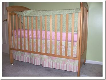 I've been searching for a crib skirt that used more than one kind of material.