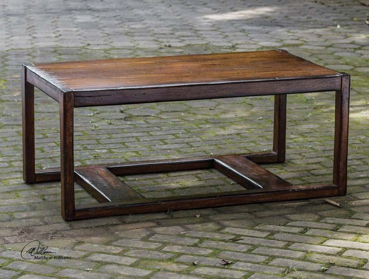 Modern Distressed Cocktail Table Western Cocktail And End Tables   Light  Honey Stain On Solid Mango