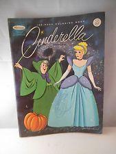 Vintage Coloring Book Walt Disney Cinderella Whitman 1965