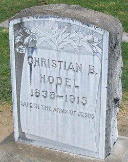Christian B Hodel grave
