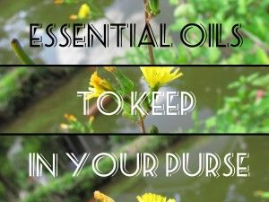Five Essential Oils to Keep in Your Purse - Survival Mom
