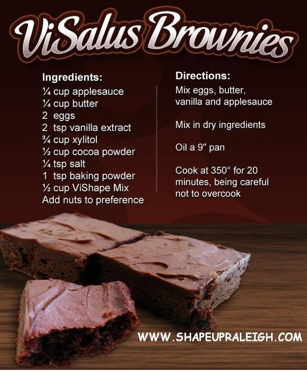 Visalus Brownies    Body by Vi 90 Day Challenge     Recipes   Sign up: www.aimeefields.bodybyvi.com