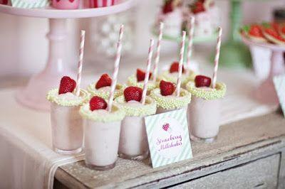 Fiesta temática con frutillas (fresas) - Strawberry Party