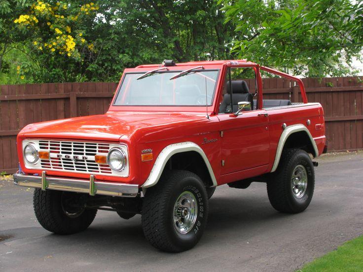 vintage ford bronco red