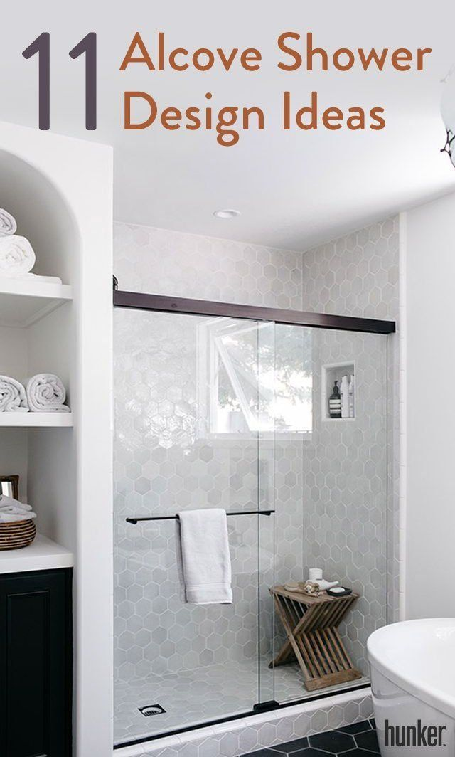 11 Alcove Shower Design Ideas For Every Style With Images Bathrooms Remodel Remodel Bedroom Bathroom Decor