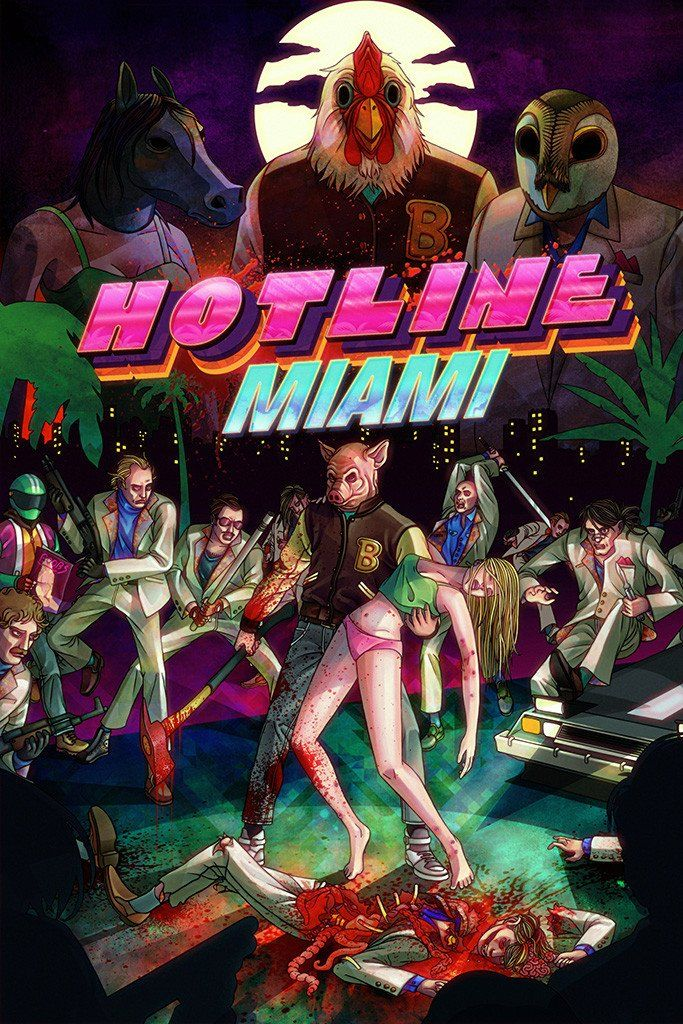 Hotline Miami All Characters Poster | misc art | Miami, Games box