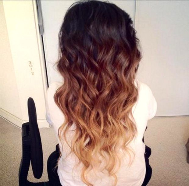 TRI - TONE OMBRE Triple Ombre 22 Inches Regular Set 120g Silky Remy Hair Extensions Hilights Any Color Clip In Pastel Unicorn Hair