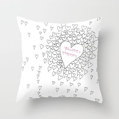 Hearts Throw Pillow by M✿nika  Strigel	 - $20.00