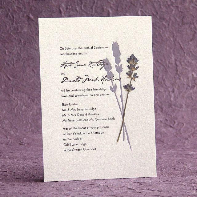 127 best Lavender cards for weddings images on Pinterest ...