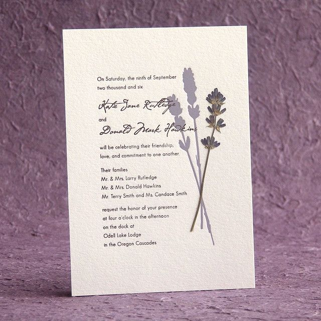 pressed lavender wedding invitation google search With pressed lavender wedding invitations