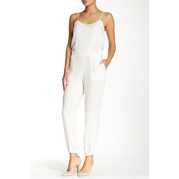 Theory Stassia Double Silk Jumpsuit (€115) ❤ liked on Polyvore ...