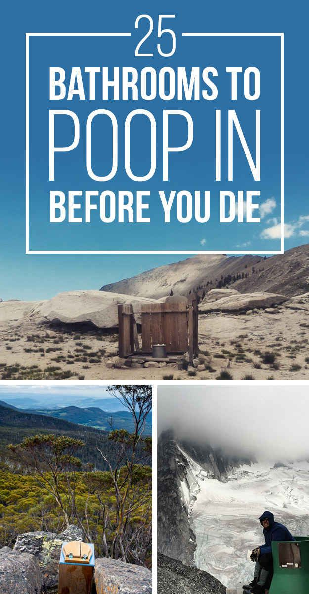 25 Places You Need To Poop In Before You Die
