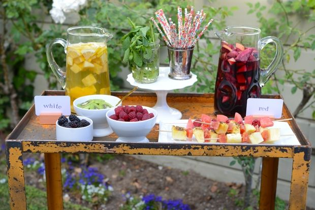 Mother's Day Sangria Bar | Cupcakes & Cashmere