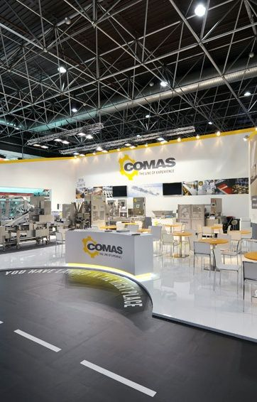 @aemexhibitions Comas @ Interpack 2015, Dusseldorf.  Our exhibit solution for Comas in Dusseldorf. www.aemexhibitions.com