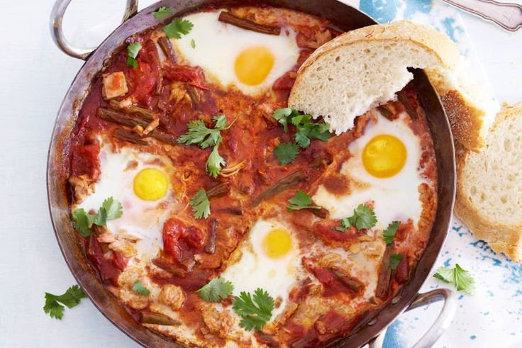 Kijk wat een lekker recept ik heb gevonden op Allerhande! Tonijn-tomatenstoof met knapperige boontjes