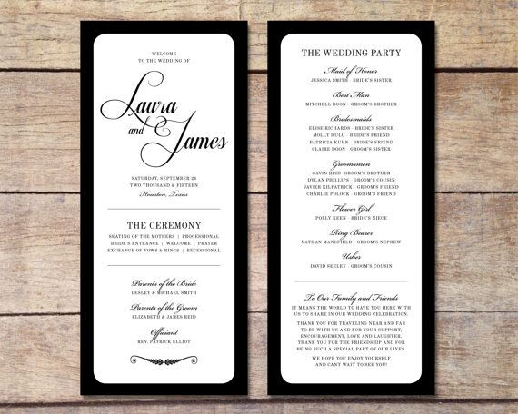 order of service wedding pinterest wedding programs wedding and programming